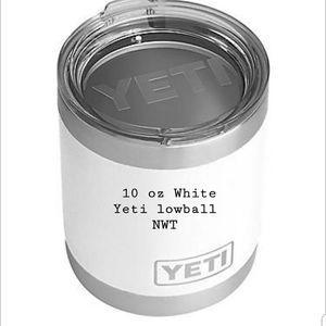 White 10 oz Yeti lowball NWT